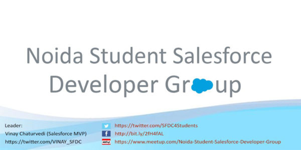 Introducing Noida Student Salesforce Developer Group