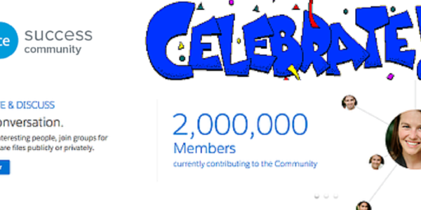 Salesforce Success Community- Celebrating 2 Million Members