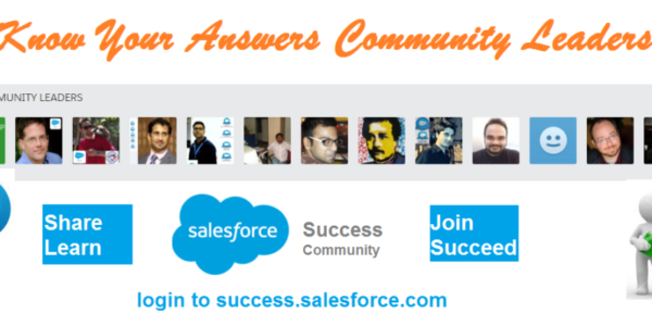 Know Your Answers Community Leaders- Sharif Shaalan (Salesforce MVP)